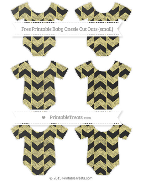 Free Pastel Yellow Herringbone Pattern Chalk Style Small Baby Onesie Cut Outs
