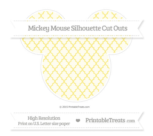 Free Pastel Yellow Moroccan Tile Extra Large Mickey Mouse Silhouette Cut Outs