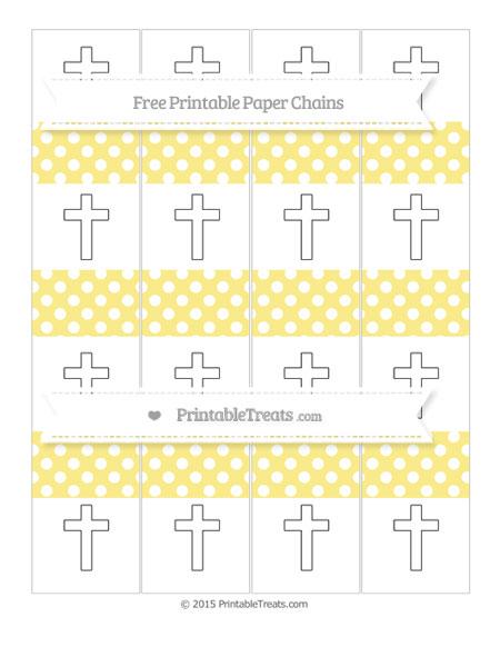 Free Pastel Yellow Polka Dot Cross Paper Chains