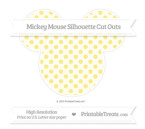 Free Pastel Yellow Polka Dot Extra Large Mickey Mouse Silhouette Cut Outs