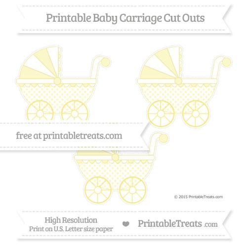 Free Pastel Yellow Polka Dot Medium Baby Carriage Cut Outs