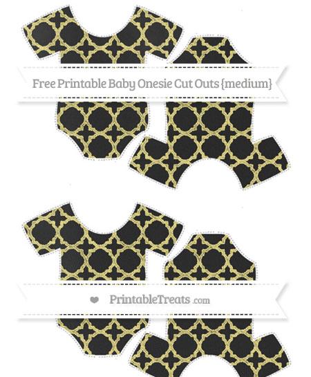 Free Pastel Yellow Quatrefoil Pattern Chalk Style Medium Baby Onesie Cut Outs