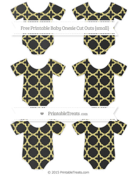 Free Pastel Yellow Quatrefoil Pattern Chalk Style Small Baby Onesie Cut Outs