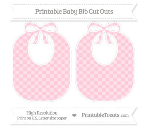 Free Pink Checker Pattern Large Baby Bib Cut Outs