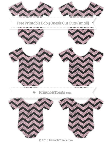 Free Pink Chevron Chalk Style Small Baby Onesie Cut Outs