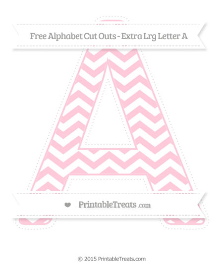 Free Pink Chevron Extra Large Capital Letter A Cut Outs