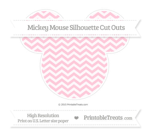Free Pink Chevron Extra Large Mickey Mouse Silhouette Cut Outs