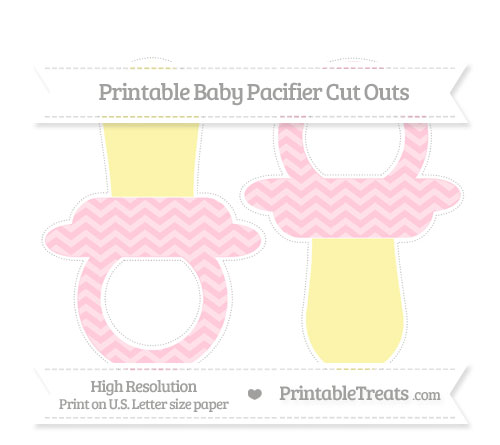 Free Pink Chevron Large Baby Pacifier Cut Outs
