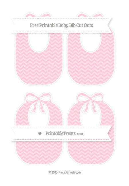 Free Pink Chevron Medium Baby Bib Cut Outs