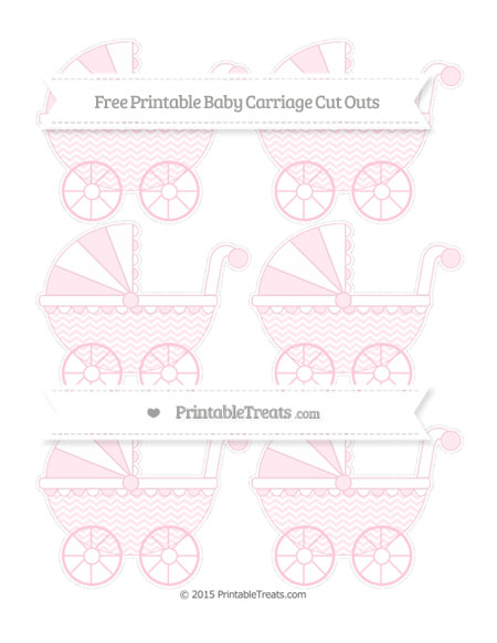 Free Pink Chevron Small Baby Carriage Cut Outs