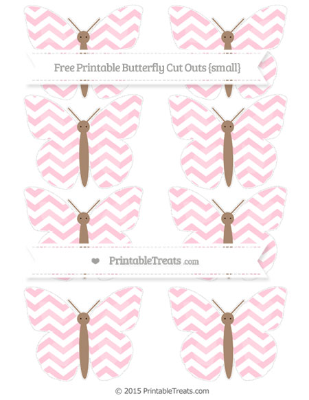 Free Pink Chevron Small Butterfly Cut Outs