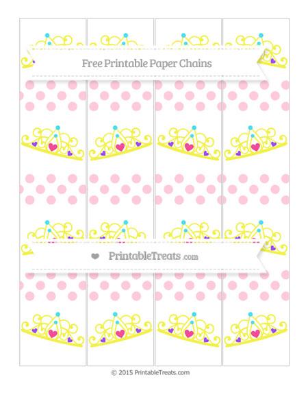 Free Pink Dotted Pattern Princess Tiara Paper Chains