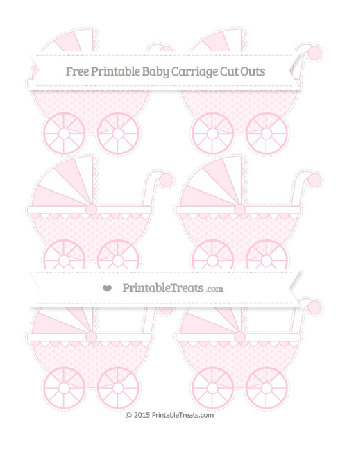 Free Pink Fish Scale Pattern Small Baby Carriage Cut Outs