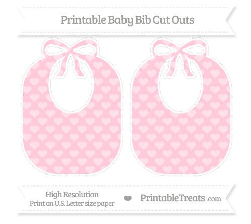 Free Pink Heart Pattern Large Baby Bib Cut Outs