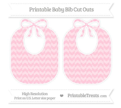 Free Pink Herringbone Pattern Large Baby Bib Cut Outs