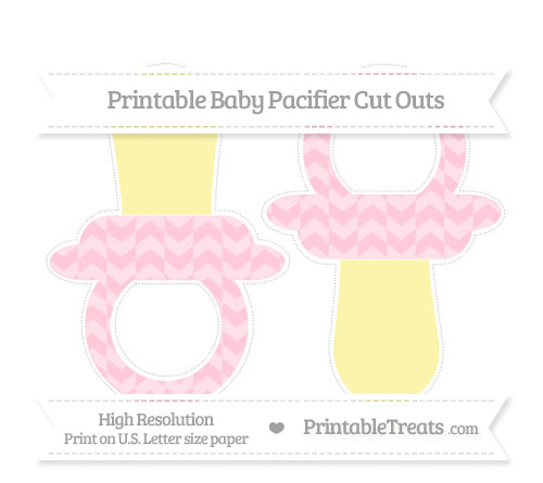 Free Pink Herringbone Pattern Large Baby Pacifier Cut Outs