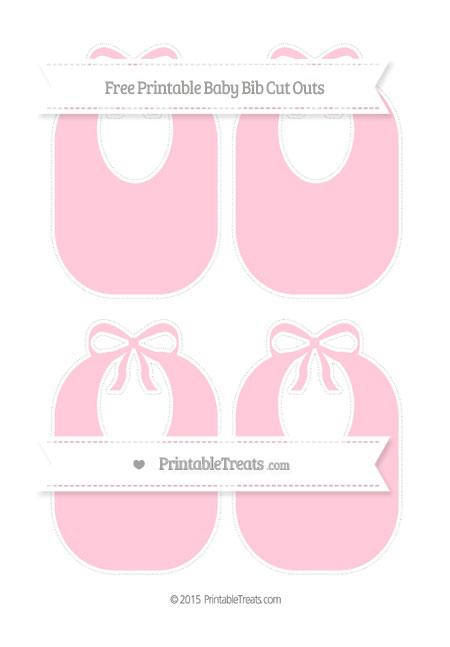 Free Pink Medium Baby Bib Cut Outs