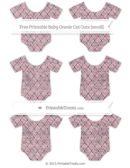 Free Pink Moroccan Tile Chalk Style Small Baby Onesie Cut Outs
