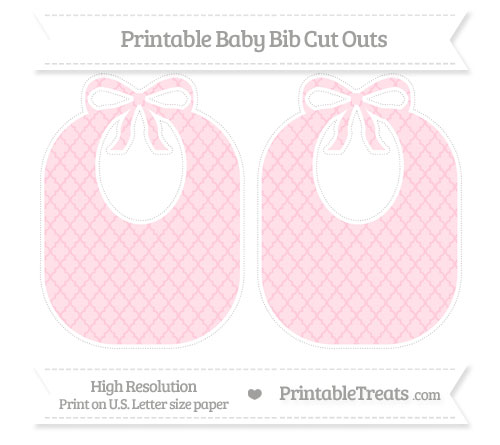 Free Pink Moroccan Tile Large Baby Bib Cut Outs