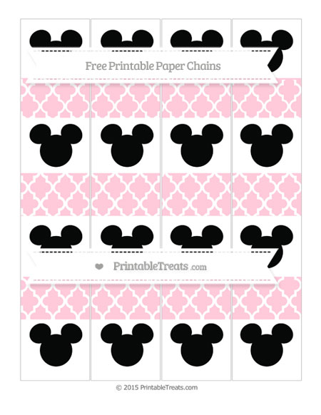 Free Pink Moroccan Tile Mickey Mouse Paper Chains
