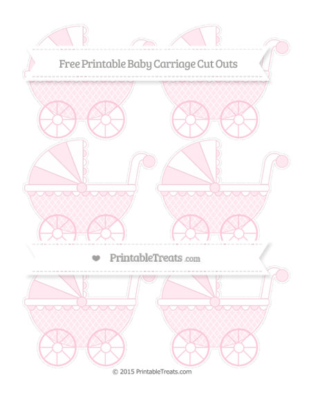 Free Pink Moroccan Tile Small Baby Carriage Cut Outs
