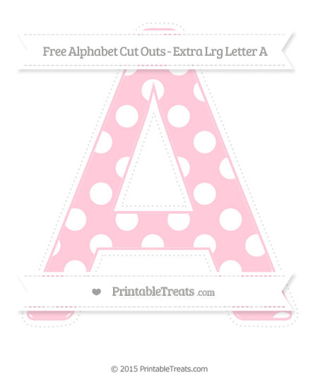Free Pink Polka Dot Extra Large Capital Letter A Cut Outs