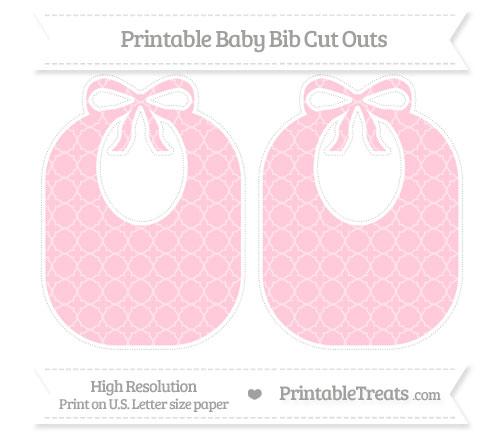 Free Pink Quatrefoil Pattern Large Baby Bib Cut Outs