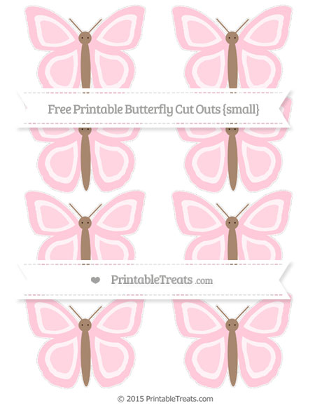 Free Pink Small Butterfly Cut Outs