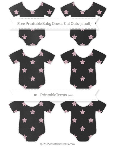 Free Pink Star Pattern Chalk Style Small Baby Onesie Cut Outs