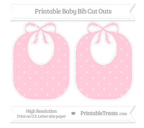 Free Pink Star Pattern Large Baby Bib Cut Outs
