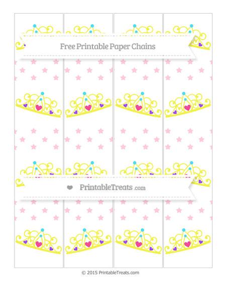 Free Pink Star Pattern Princess Tiara Paper Chains