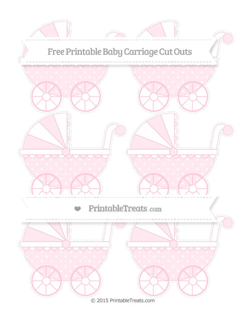 Free Pink Star Pattern Small Baby Carriage Cut Outs