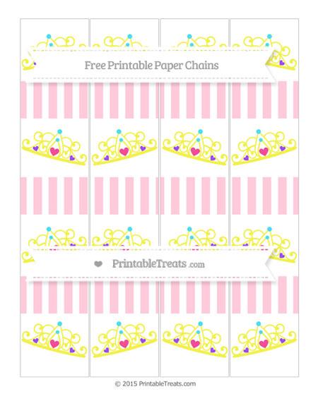 Free Pink Striped Princess Tiara Paper Chains