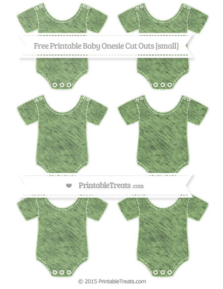 Free Pistachio Green Chalk Style Small Baby Onesie Cut Outs