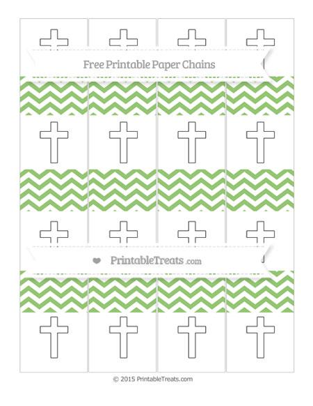 Free Pistachio Green Chevron Cross Paper Chains