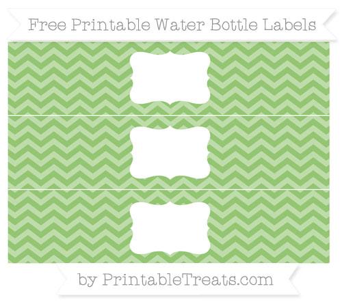 Free Pistachio Green Chevron Water Bottle Labels