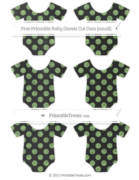 Free Pistachio Green Dotted Pattern Chalk Style Small Baby Onesie Cut Outs