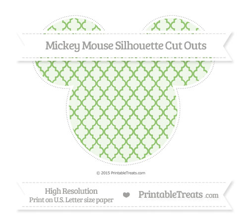 Free Pistachio Green Moroccan Tile Extra Large Mickey Mouse Silhouette Cut Outs