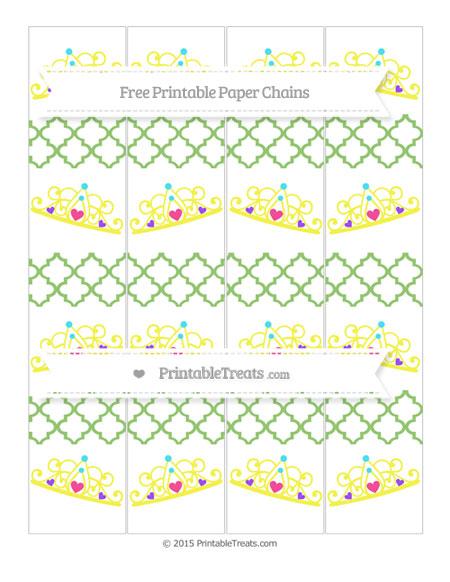 Free Pistachio Green Moroccan Tile Princess Tiara Paper Chains
