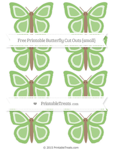 Free Pistachio Green Small Butterfly Cut Outs