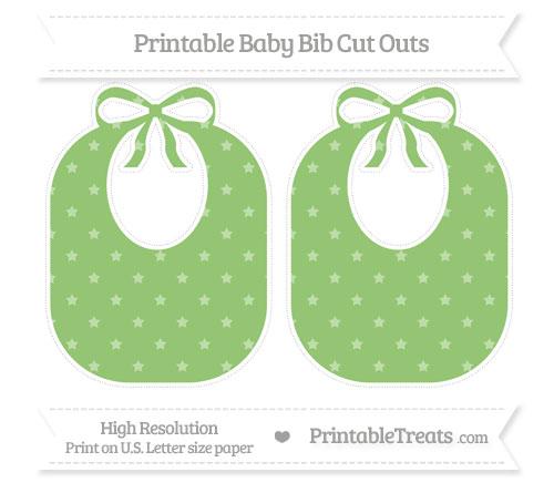 Free Pistachio Green Star Pattern Large Baby Bib Cut Outs