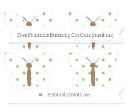 Free Pistachio Green Star Pattern Medium Butterfly Cut Outs