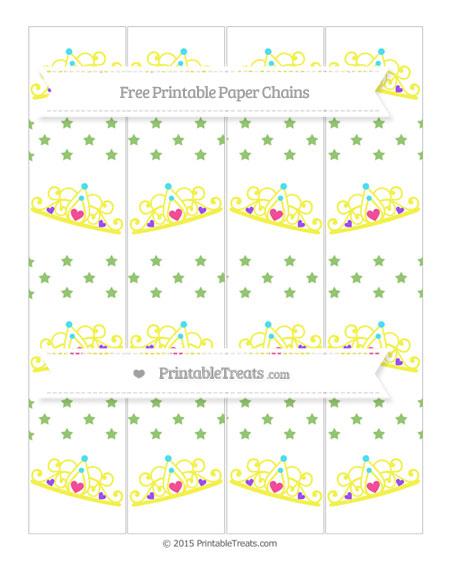 Free Pistachio Green Star Pattern Princess Tiara Paper Chains
