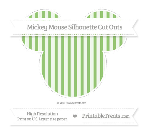 Free Pistachio Green Striped Extra Large Mickey Mouse Silhouette Cut Outs