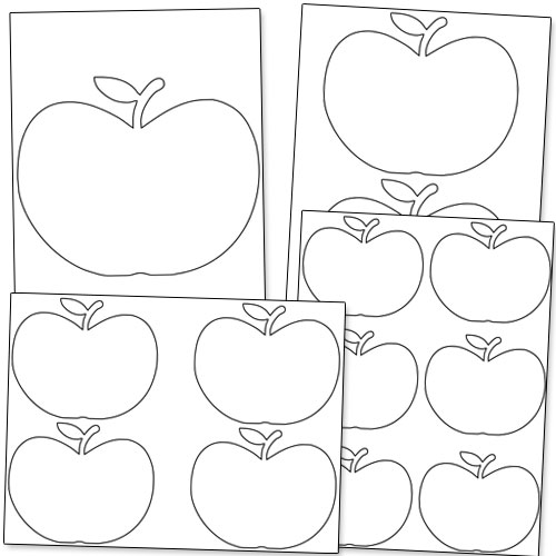 free printable apple stencils