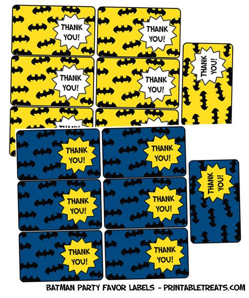 free printable batman party labels
