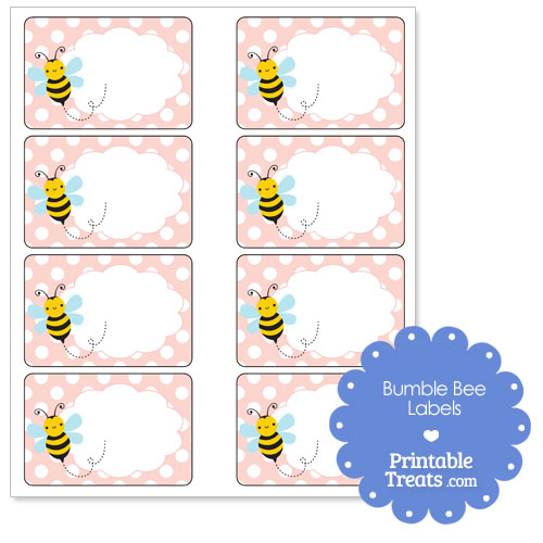 free printable bumble bee labels