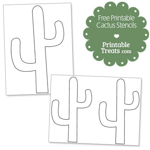 free printable cactus stencils