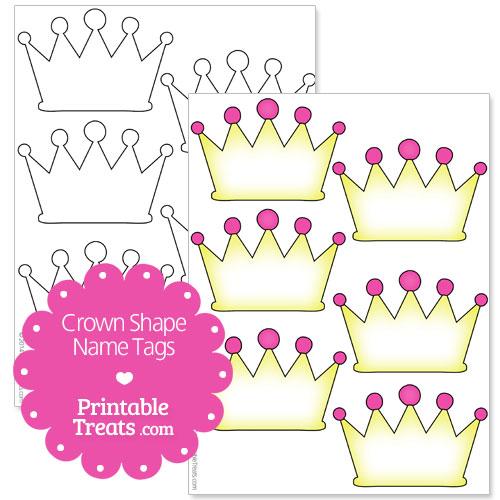 free printable crown name tags