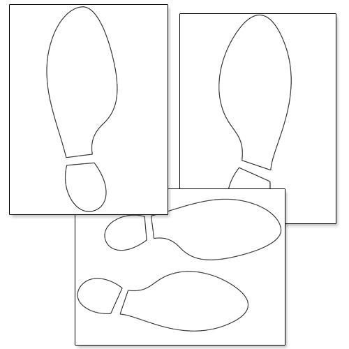free printable footsteps